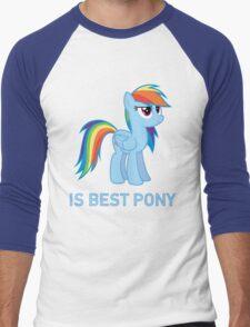 Rainbow Dash Is Best Pony - MLP FiM - Brony Men's Baseball ¾ T-Shirt