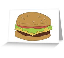 The Burger Greeting Card