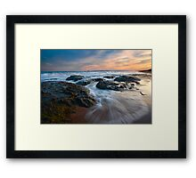 Covering the Beach Framed Print