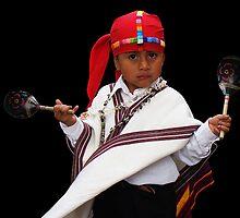STREET MUSICIAN - GUATEMALA by Michael Sheridan