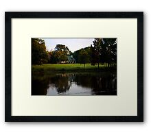 Farm House at Willow Pond Framed Print