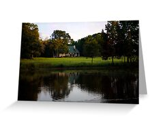 Farm House at Willow Pond Greeting Card