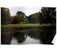 Farm House at Willow Pond Poster