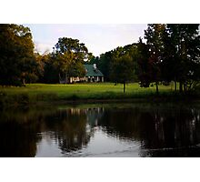 Farm House at Willow Pond Photographic Print
