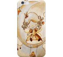 ..: AnGeL SiTTinG On ThE MooN:.. iPhone Case/Skin