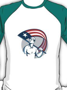 American Tradesman Holding USA Flag Circle T-Shirt