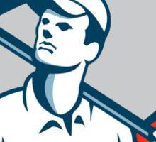 American Tradesman Holding USA Flag Circle Sticker