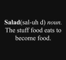 The definition of Salad by BasiliskOnline