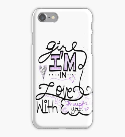 """Thought of You"" Justin Bieber Lyric Drawing iPhone Case/Skin"