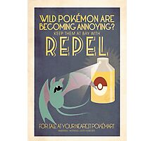 Pokemon Repel ad Photographic Print