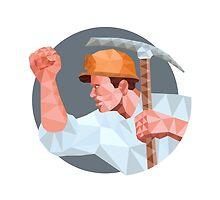 Coal Miner Pick Axe Fist Low Polygon by patrimonio