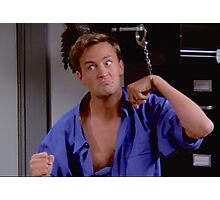 Chandler in handcuffs Photographic Print