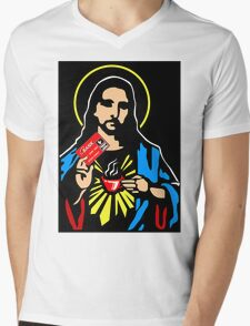 How much would Jesus charge? Mens V-Neck T-Shirt