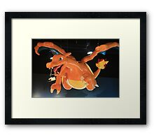 Charizard Pokemon Center Statue Framed Print