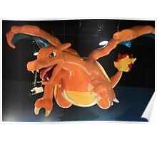 Charizard Pokemon Center Statue Poster