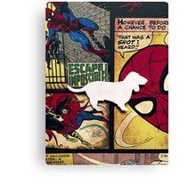 Basset Hound -Spiderman  Canvas Print