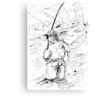 FLY FISHING(C2012)(BW) Canvas Print