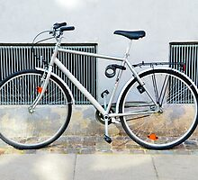 Gray Bicycle in Copenhagen, Denmark by Catherine Sherman