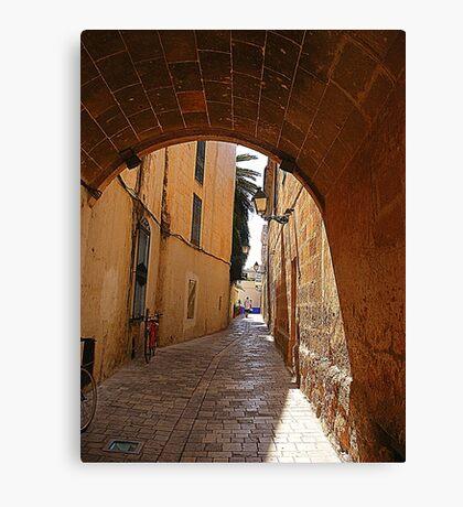 An Alley In Ciutadella............................Menorca Canvas Print