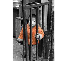 Street Boy in Shanghai Photographic Print