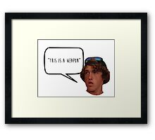 this is a weapon Framed Print
