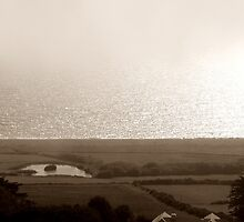 "UK: ""Dorset Coastline in Fog"", Dorset by Kelly Sutherland"