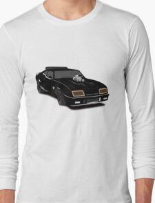 Max's Black V-8 Interceptor Long Sleeve T-Shirt