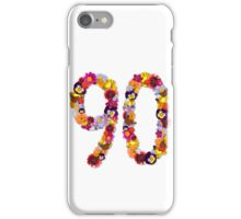 90th Flowers iPhone Case/Skin