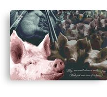 Why we could clone a million pigs from just one can of Spam! Canvas Print