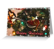 A Teaspoon Of The Holidays  Greeting Card