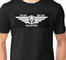 Gear Head Blk/Wht Unisex T-Shirt