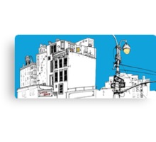 A Blue Day In New York Canvas Print