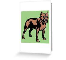 PIT BULL-7 Greeting Card