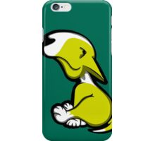 Innocent English Bull Terrier Puppy Yellow and White iPhone Case/Skin