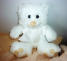 Christmas gift -  Lovely WhiteTeddy in A Basket by EdsMum