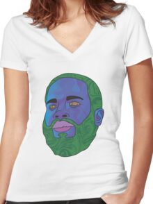 MC Ride (Death Grips) Women's Fitted V-Neck T-Shirt