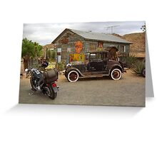 Route 66 Vintage Auto and Shed Greeting Card