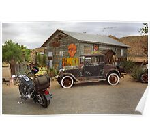 Route 66 Vintage Auto and Shed Poster