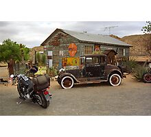 Route 66 Vintage Auto and Shed Photographic Print