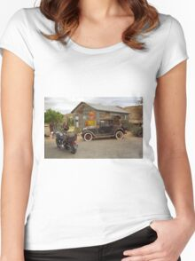 Route 66 Vintage Auto and Shed Women's Fitted Scoop T-Shirt