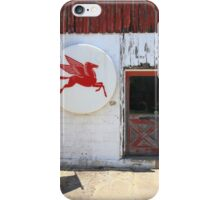 Route 66 - Rusty Mobil Station and Pegasus iPhone Case/Skin