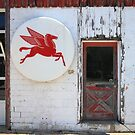Route 66 - Rusty Mobil Station and Pegasus by Frank Romeo