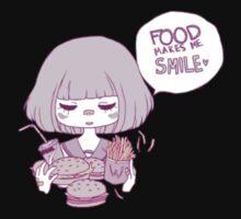 FOOD MAKES ME :) T-Shirt
