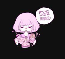 FOOD MAKES ME :) Unisex T-Shirt