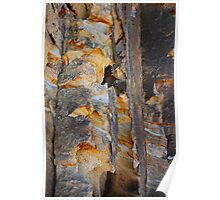 Cliff Colours - Redhead Beach NSW Poster