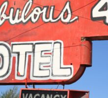Route 66 - Fabulous 40 Motel Sticker