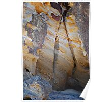 Rock Colours - Redhead Beach NSW Poster