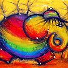 Rainbow Elephant by © Karin (Cassidy) Taylor