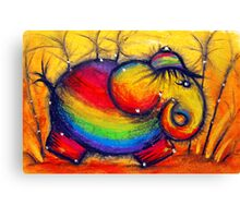 Rainbow Elephant Canvas Print