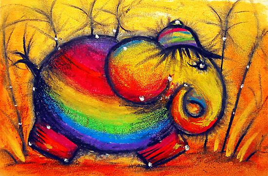 Rainbow Elephant by © Karin Taylor